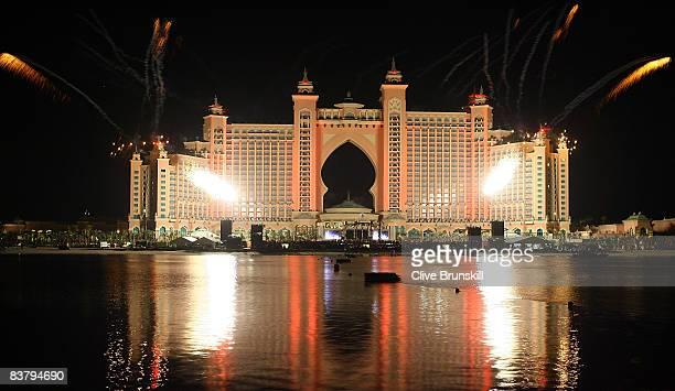 Dubai celebrates the landmark Grand Opening of Atlantis The Palm Resort and the Palm Jumeirah during unprecedented pyrotechnics and illumination...