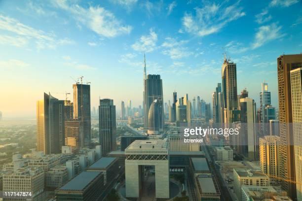 panorama de la ciudad de Dubai, el sunrise