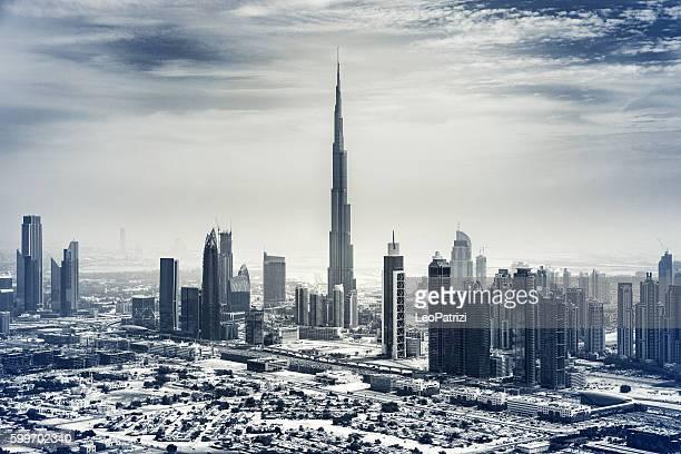 Dubai cityscape - Aerial view