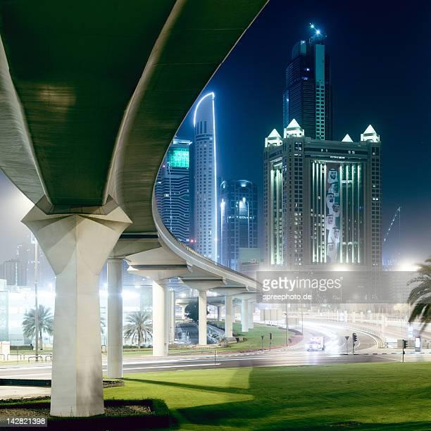 Dubai cityscape at night