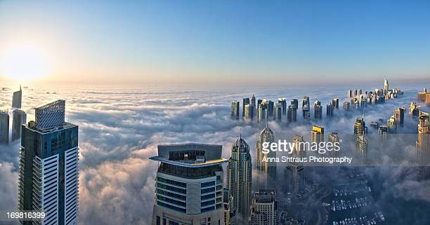 Dubai covered with clouds