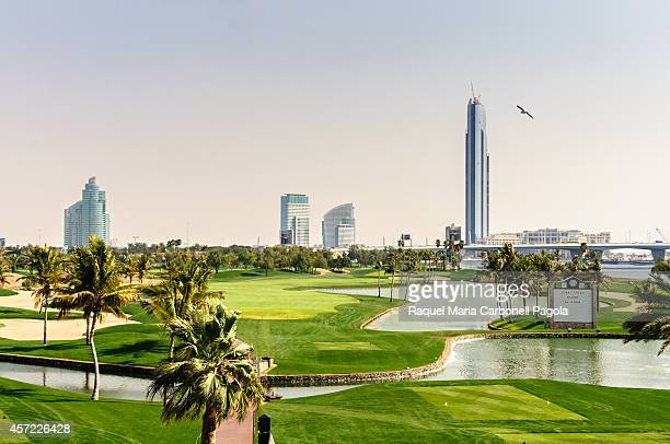Dubai Creek Golf with Yacht Club in distance