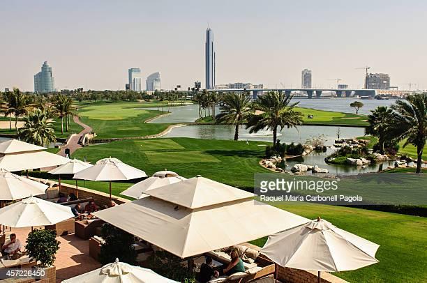 Dubai Creek Golf with Yacht Club in distance