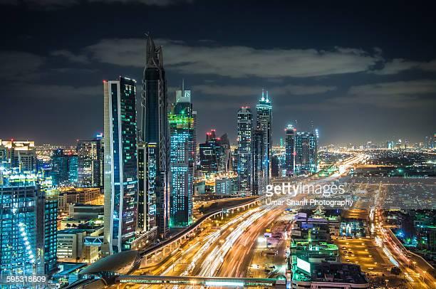 Dubai Downtown area at dusk