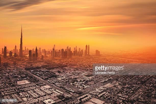 Estação do centro da cidade de Dubai horizonte