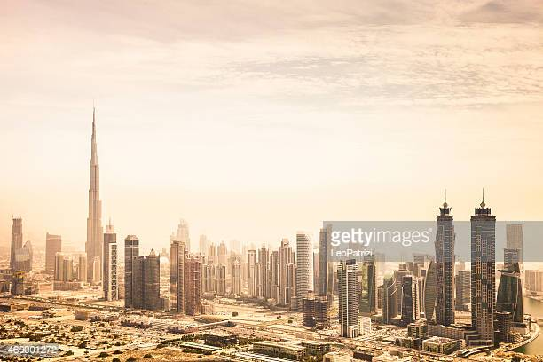 Dubai downtown skyscrapers and office buildings