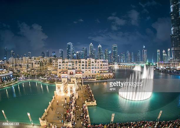 Mostrar fuente de Dubai, Emiratos Árabes Unidos, Burj Khalifa