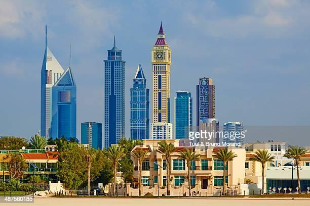 Dubai, Jumeirah beach and cityscape