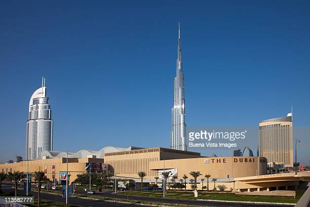 Dubai Mall and Burj Khalifa tower