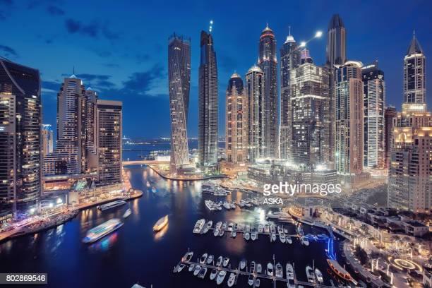 Dubai Marina-Skyline der Stadt in den Vereinigten Arabischen Emiraten