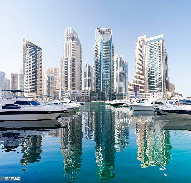 Dubai Marina City Skyline United Arab Emirates