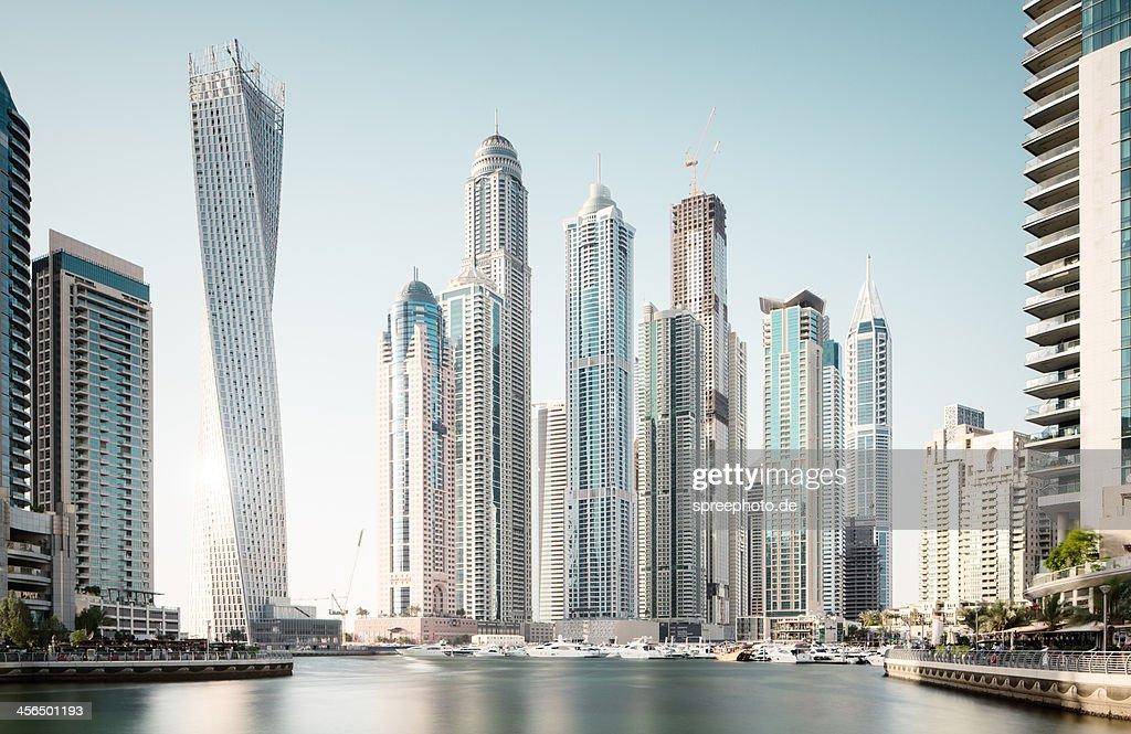 Dubai marina futuristic buildings