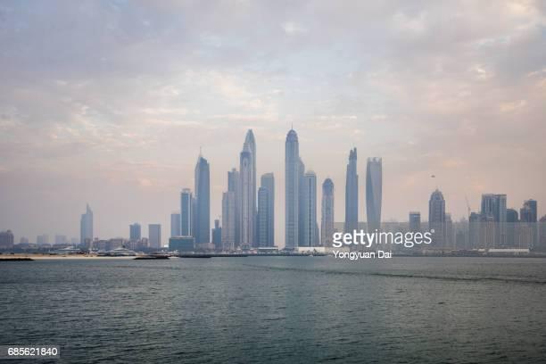Dubai Marina in Sandstorm
