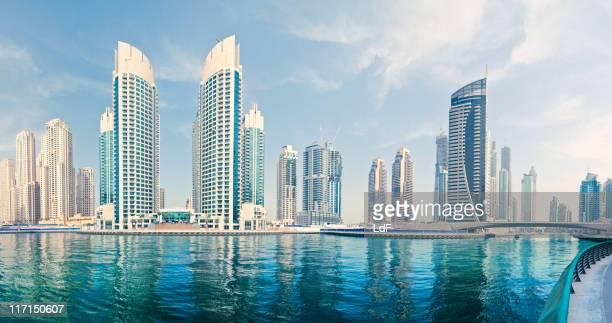 Vista panorámica de la Marina de Dubai