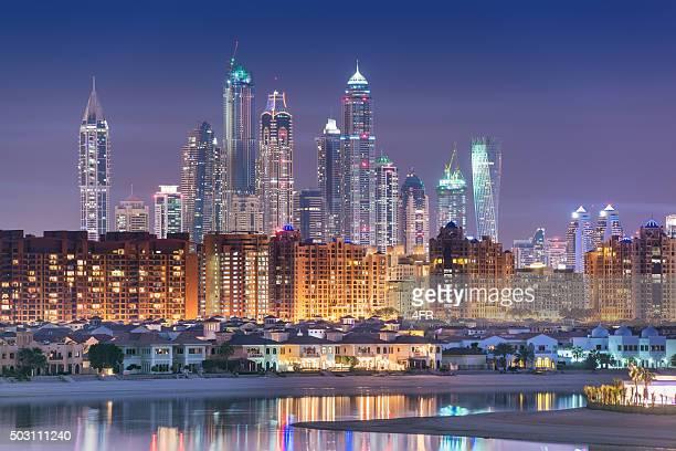 Dubai Marina Skyline from Palm Island