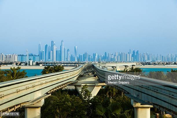Dubai Marina skyline from Palm Jumeirah