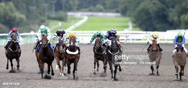 Dubai Media ridden by Kieren Fallon goes on to win the Ford Manor Road Handicap at Lingfield Racecourse