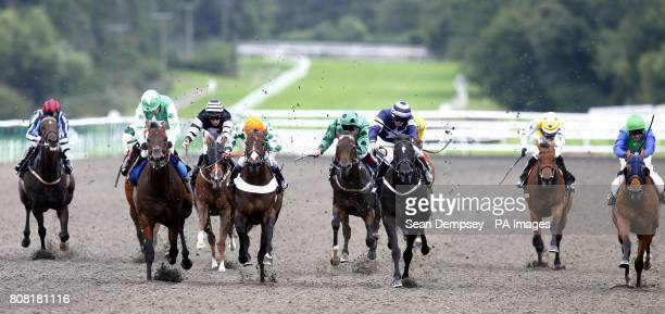 Dubai Media ridden by Kieren Fallon goes on tow in the Felbridge Claiming Stakes at Lingfield Racecourse