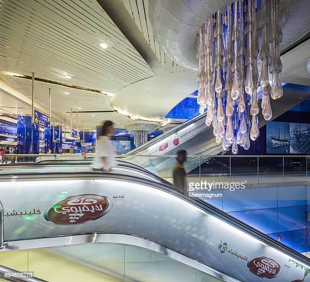 Dubai Metro (subway), interior of Burjuman Station