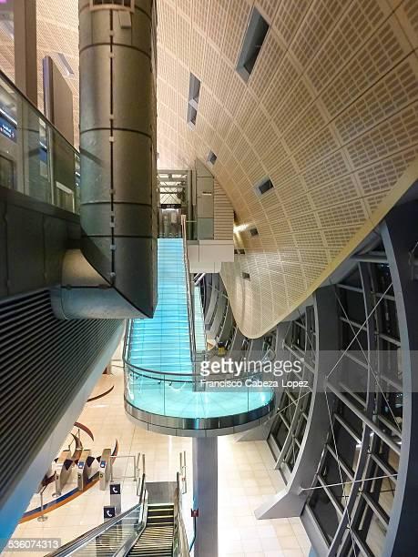 Dubai metro station interior details UAE
