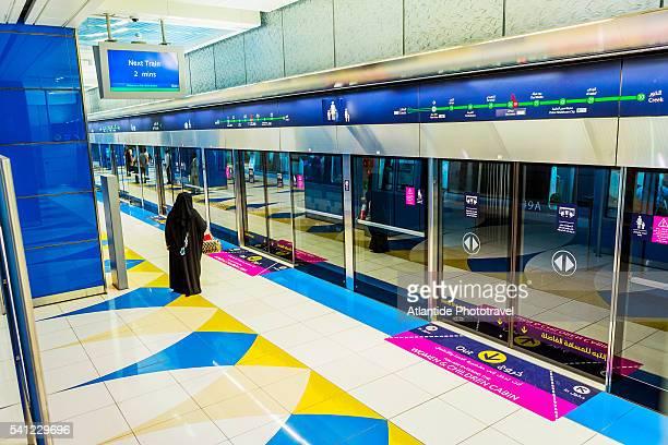 Dubai Metro (subway), the interior of Burjuman Station