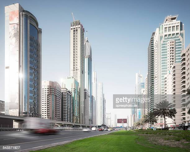 Dubai Sheikh Zayed road traffic