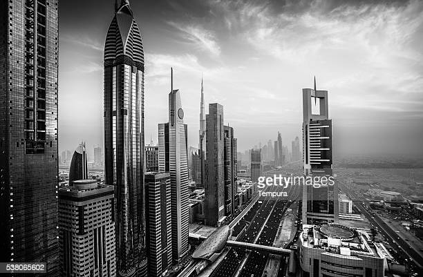 Dubai sky line with Burj Khalifa