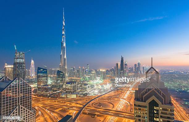 Dubai skyline down town district cityscape