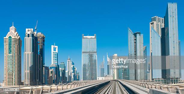 Dubai Skyline  Looking towards Emirates towers Sheik Zayed road