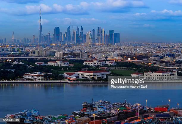 Dubai skylline and Bay area