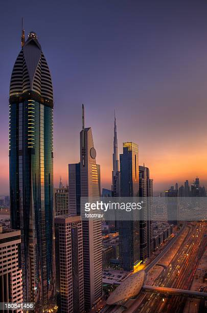 Dubai Skyscrapers Skyline