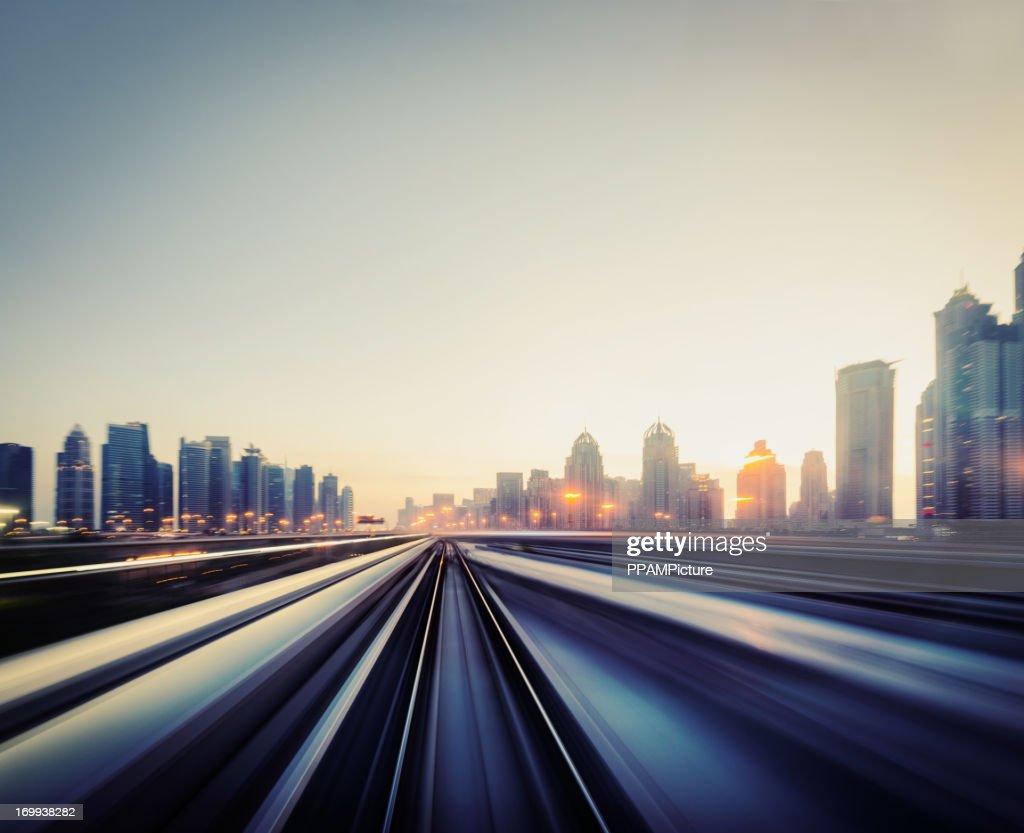 Dubai Speed motion : Stock Photo