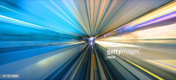 Dubai subway, motion blur
