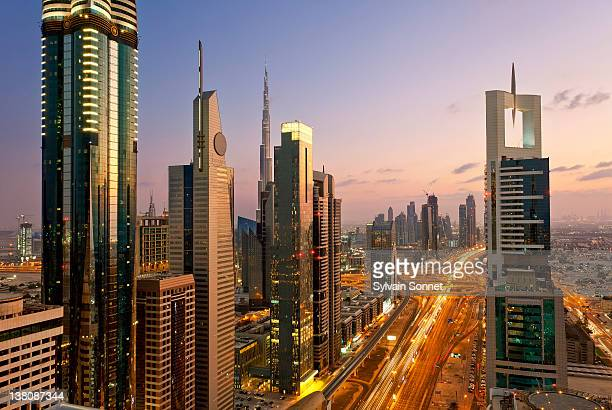Dubai, Towering office and apartment towers along