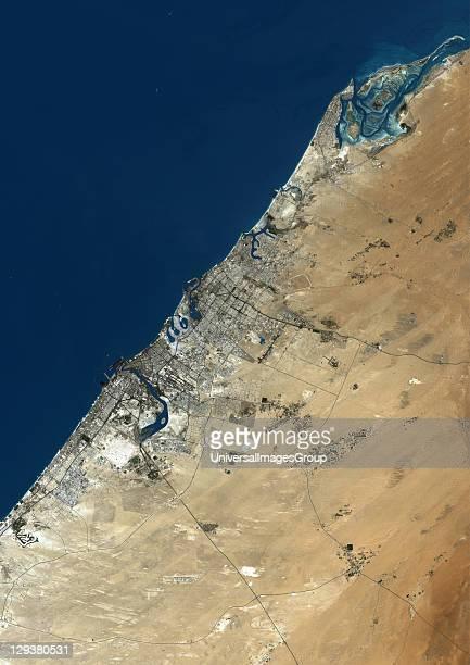 Dubai United Arab Emirates True colour satellite image of Dubai taken on 23 August 2000 using LANDSAT 7 data Dubai United Arab Emirates True Colour...