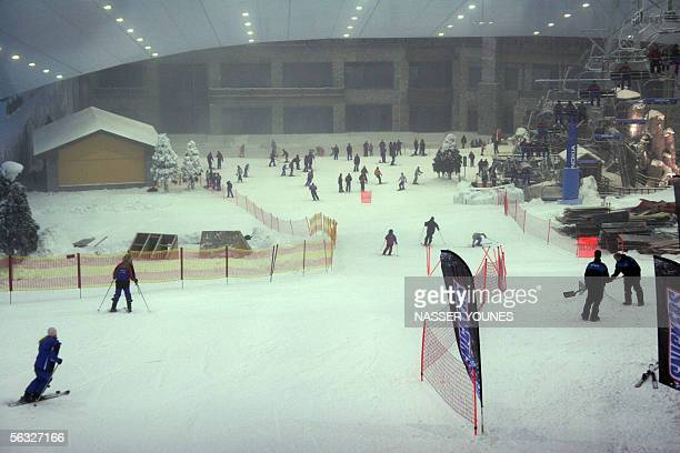 Young residents of Dubai ski 02 December 2005 at the Gulf emirate's new indoor ski resort The resort which was officially opened at the begining of...