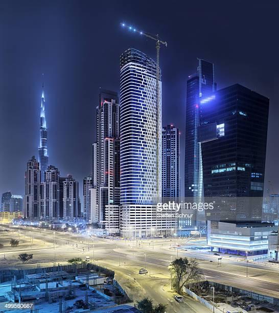 Dubai - very high skyscraper and construction site