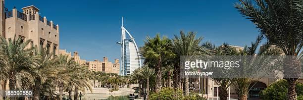 Dubai wind towers palm trees Burj Al Arab