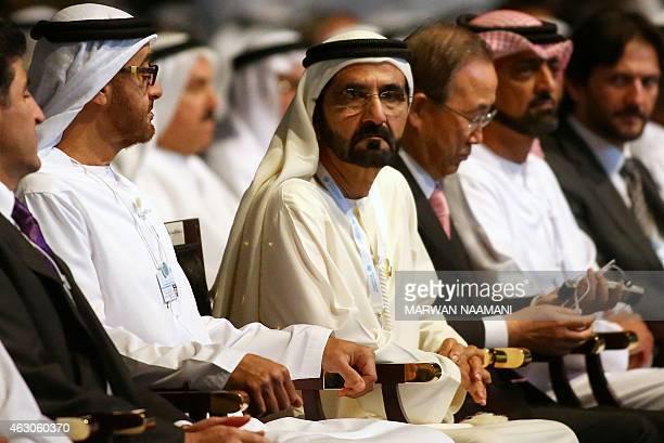 Dubai's ruler Sheikh Mohammad bin Rashed alMaktoum sits alongside Sheikh Mohammed bin Zayed alNahyan Crown Prince of Abu Dhabi and the UAE's deputy...