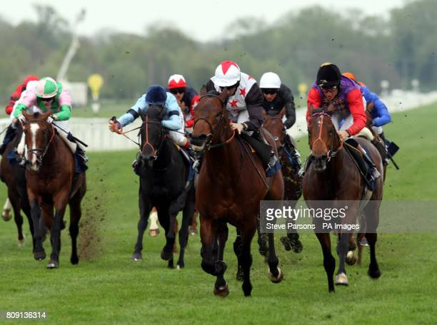 Dubawi Sound ridden by Neil Callan beats Queen Elizabeth II's horse General Synod ridden by Richard Hughes in the Dubai Duty Free Tennis...