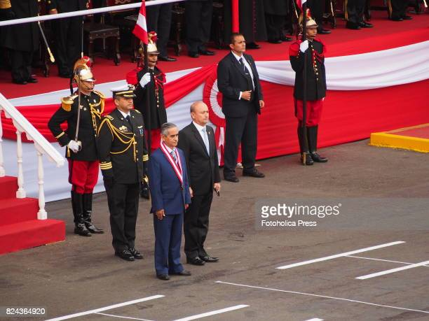 Duberli Rodriguez President of Judiciary at Military parade commemorating 196th anniversary of Peruvian independence
