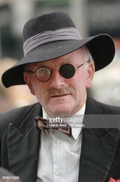 Dublin born actor Dermod Lynskey in character as Irish writer James Joyce on O'Connell Street in Dublin to mark the centenary of Bloomsday the key...