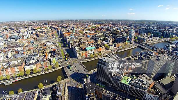 Dublin city center, O'Connell bridge und street