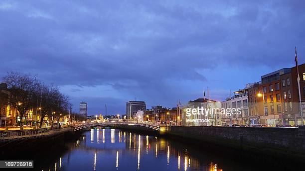 Dublin City Centre, Liffey, Ha'penny Bridge.