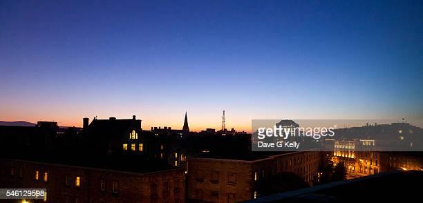 Dublin City Skyline at Dusk, Ireland