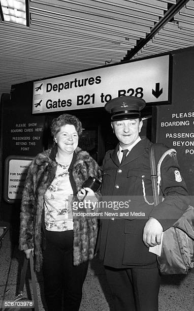 Dublin Fire Brigade Officer Willie Birmingham and his wife Mary off to Hawaii pictured departing from Dublin Airport Photographer Matt Walsh 1186220