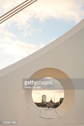 Dublin from Samuel Beckett bridge