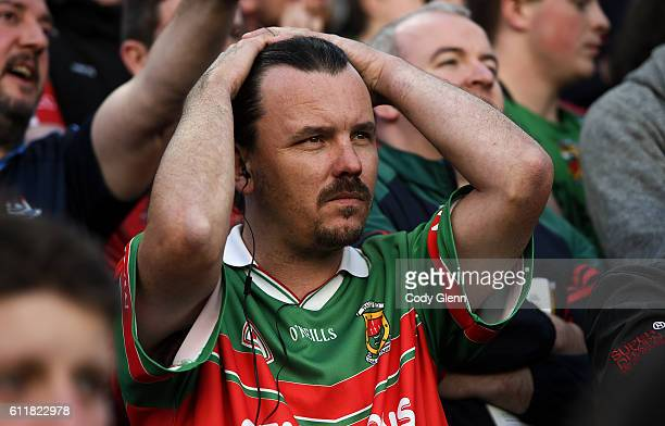 Dublin Ireland 1 October 2016 A Mayo supporter near the end of play during the GAA Football AllIreland Senior Championship Final Replay match between...