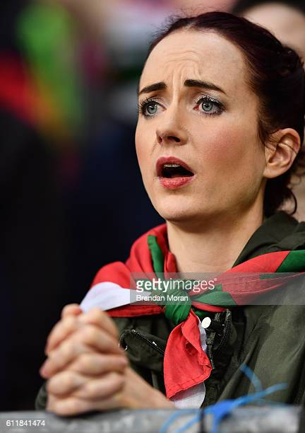 Dublin Ireland 1 October 2016 A Mayo supporter watches the final moments of the GAA Football AllIreland Senior Championship Final Replay match...