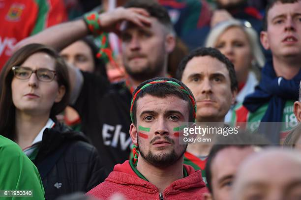 Dublin Ireland 1 October 2016 Mayo supporters look on late in the GAA Football AllIreland Senior Championship Final Replay match between Dublin and...